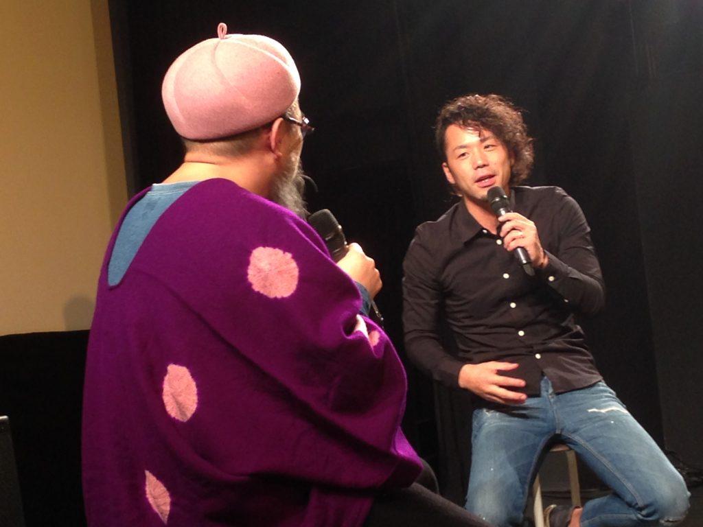 高木監督とトークする小西玲太朗