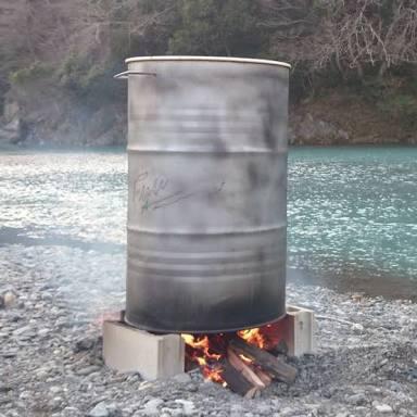 理想のドラム缶風呂